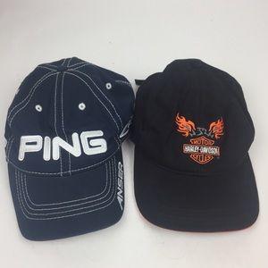 Harley Davidson and ping hat